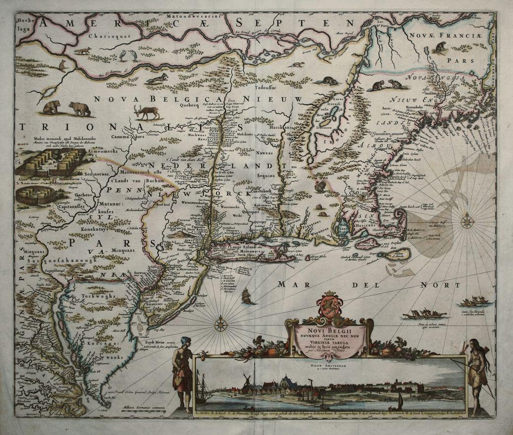 Novi Belgii Novaeque Angliae Nec Non partis Virginiae Tabula