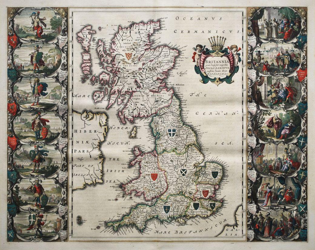 Britannia prout divisa suit temporibus Anglo-Saxonum presertim durante illorum Heptarchia
