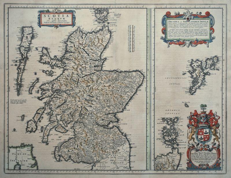 Scotia Regnum cum insulis adjacentibus. Robertus Gordonius a Straloch descripsit.
