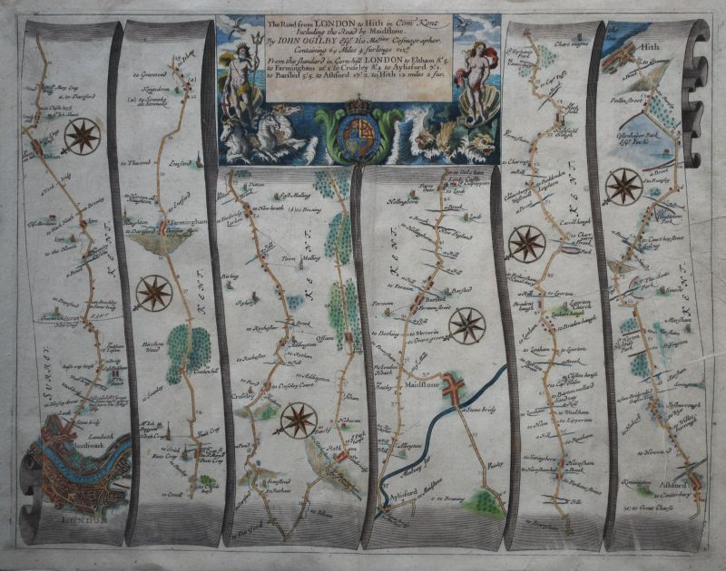 The Road from London to Hith – Plate # 20