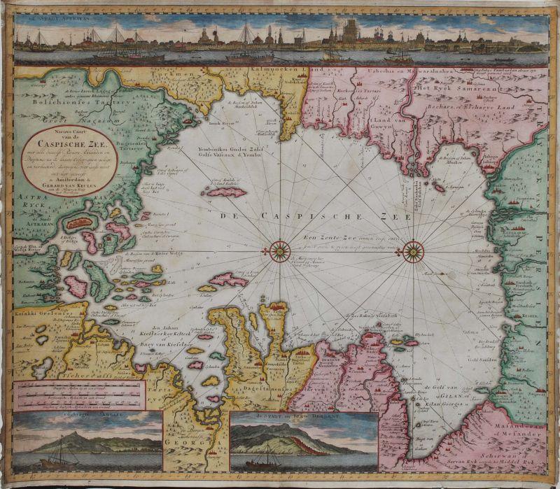 Nieuwe Caart van de Caspische Zee