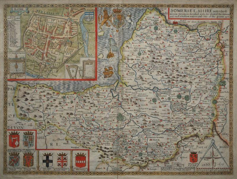 Somersetshire Described ãd into Hundreds devided…