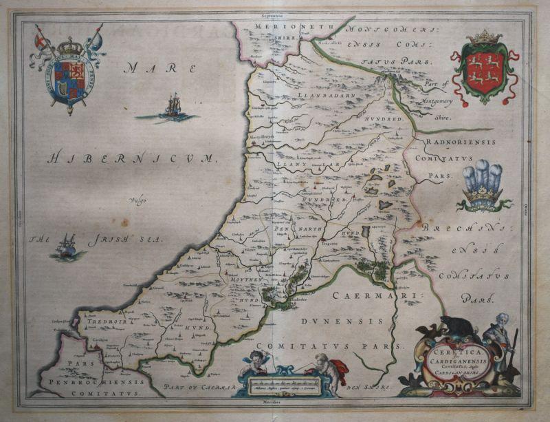 Ceretica; Sive Cardiganensis Comitatus; Anglis Cardiganshire.