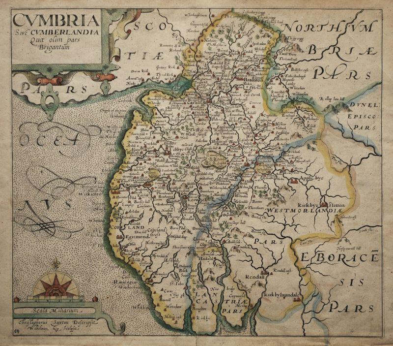 Cumbria Sive Cumberlandia Quae olim par Brigantum