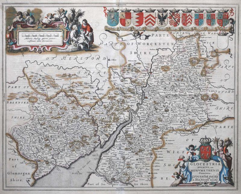 Glocestria Ducatus, cum Monumethensi Comitatu.