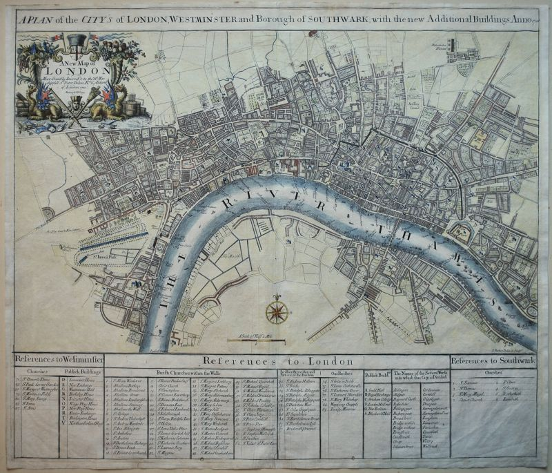A Plan of the City's of London, Westminster and the Borough of Southwark…