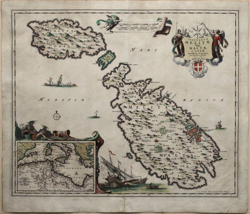 Insularum Melitae vulgo Maltae et Gozae Novissima Delineatio