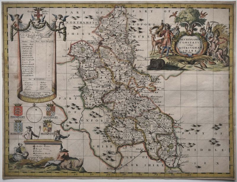 Buckingamiae Comitatus vulgo Buckinghamshire