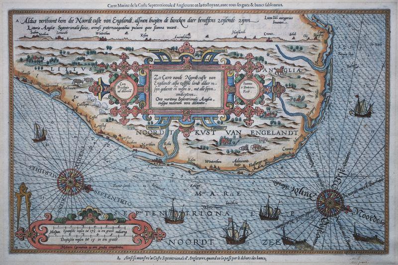 Zee Caerte vande Noordt custe van Engelandt…