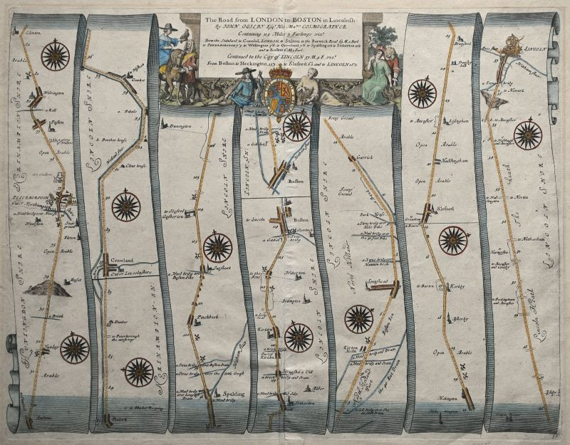 The Road from London to Boston – Plate # 36