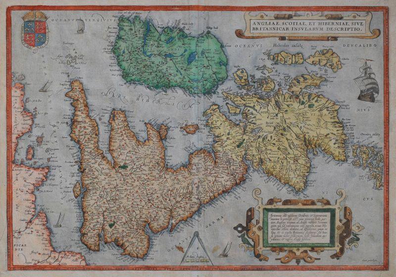 Angliae, Scotiae Et Hiberniae, Sive Britannicar: Insularum Descriptio.