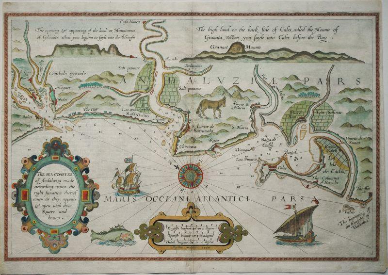 The Sea Coastes of Andaluzia made according unto the right Situation…