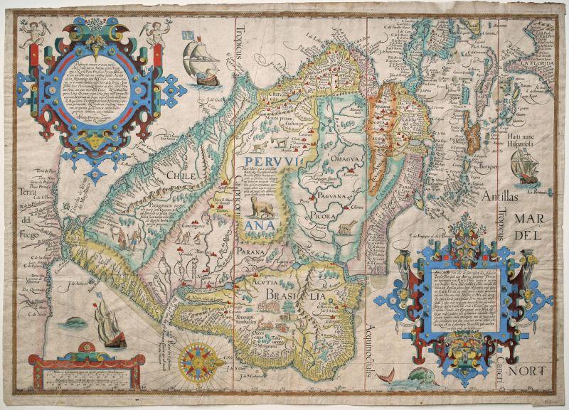 Deliniatio omnium orarum totius Australis partis Americae, dictae Peruvianae,…