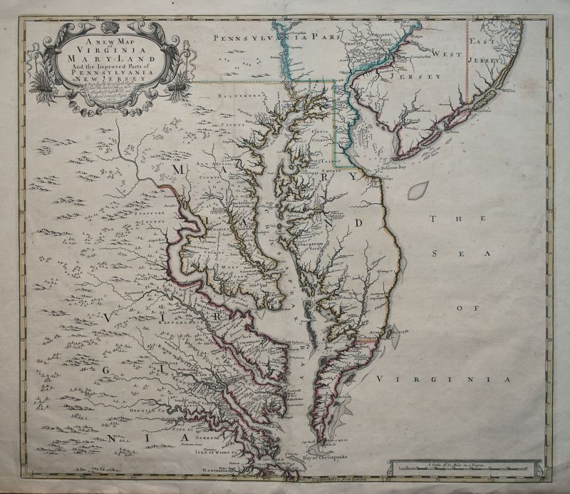 A New Map of Virginia Maryland And The Improved Parts of Pennsylvania & New Jersey.