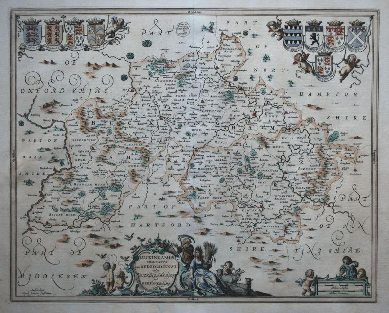 Buckinghamiae Comitatus cum Bedfordiensi; vulgo Buckinghamshire and Bedfordshire
