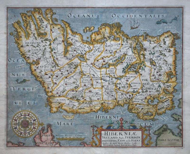 Hiberniae Ireland Anglis.