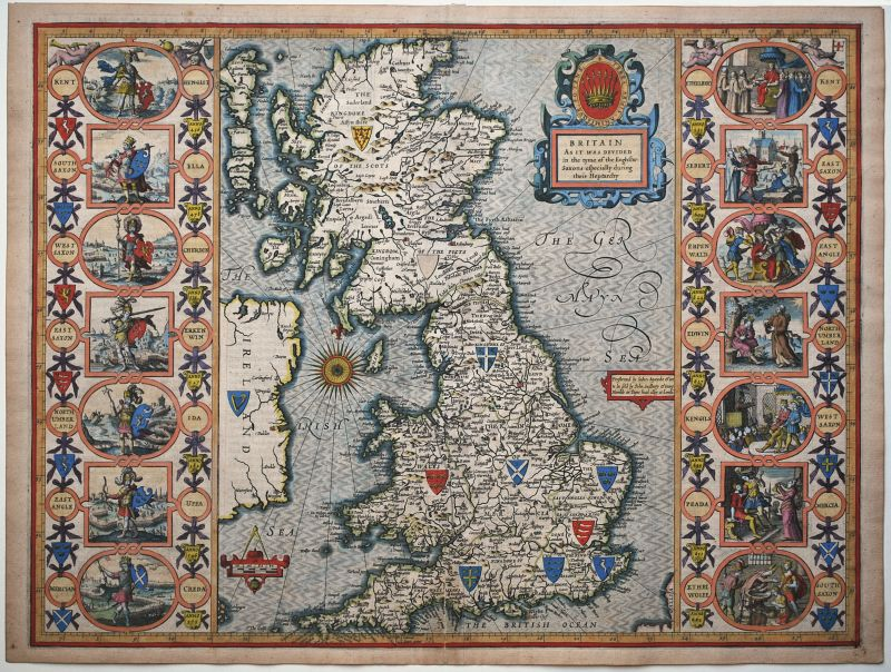 Britain As It Was Divided in the tyme of the Englishe-Saxons especially during their Heptarchy