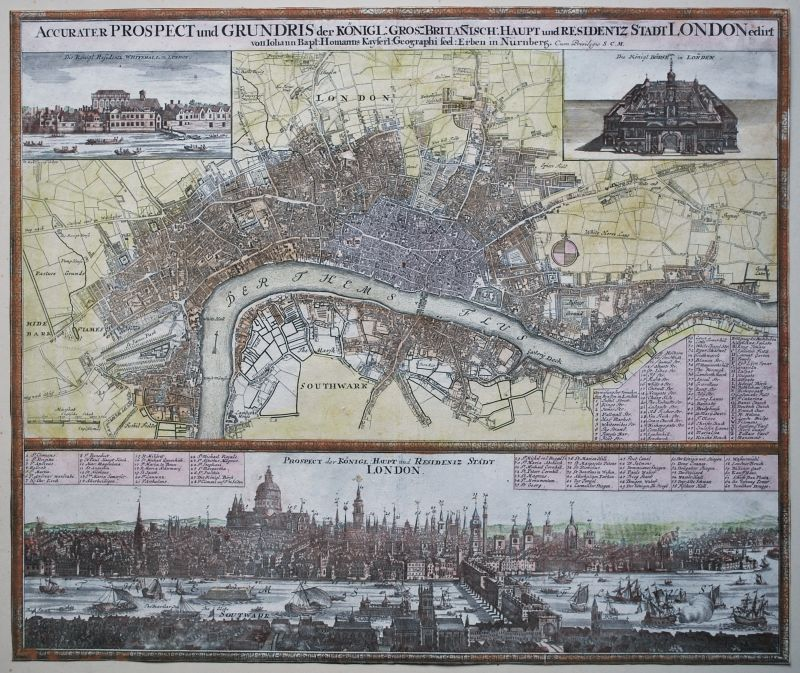 Accurater Prospect und Grundis der … Stadt London