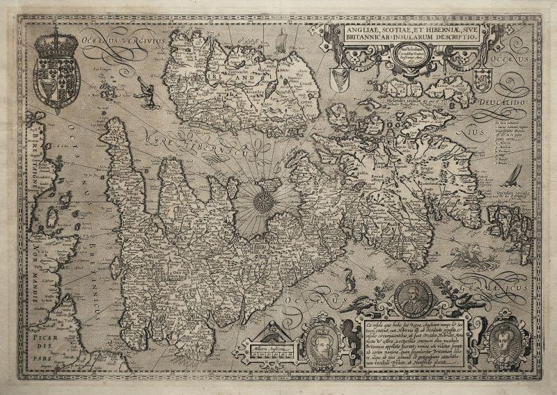 Angliae, Scotiae, et Hiberniae, sive Britannicar:Insularum Descriptio.