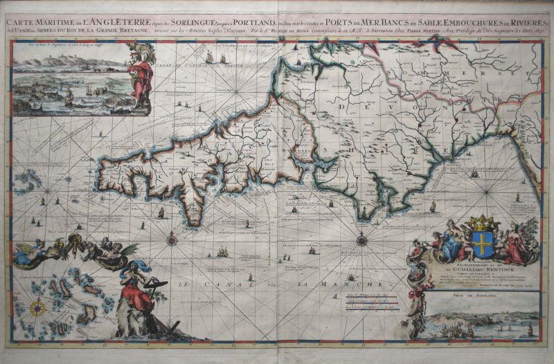 Carte Maritime de L'Angleterre depuis les Sorlingues jusques à Portland...