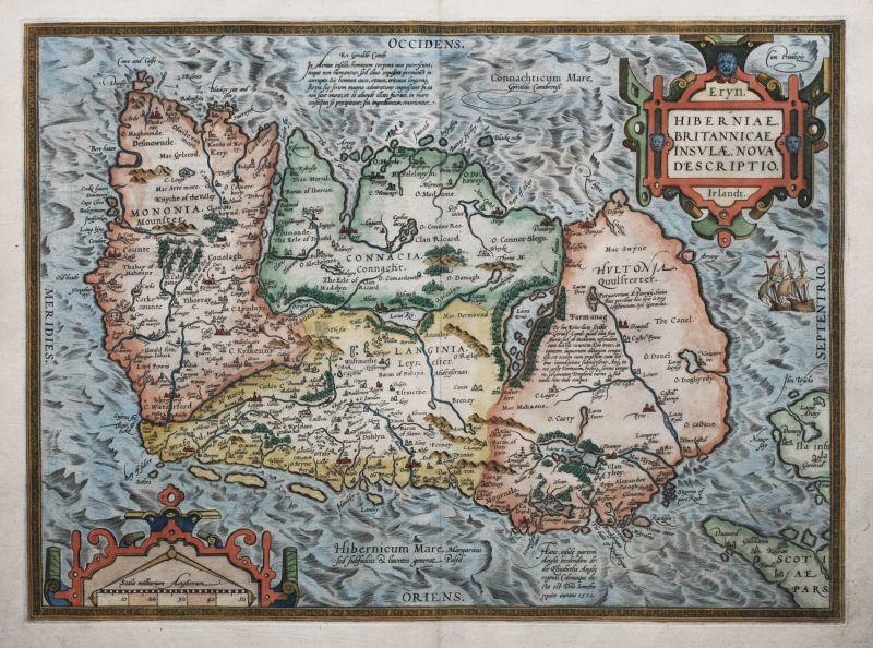 Hiberniae Britannicae Insula Nova Descriptio.