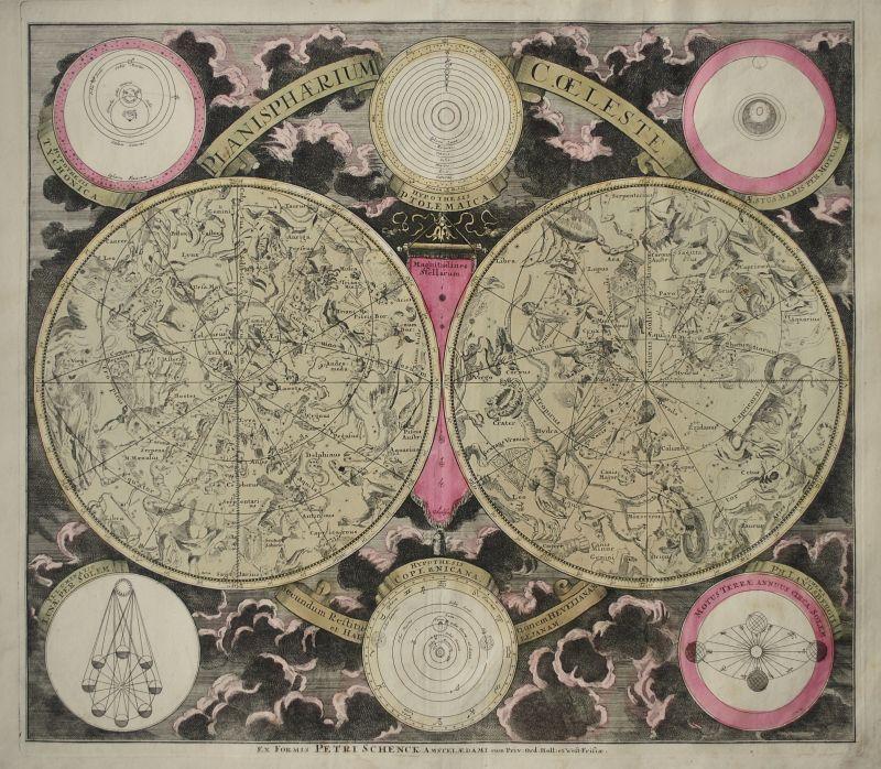 Planisphaerium Coeleste. Secundum restitutionem Hevelianam et Hallejanam.