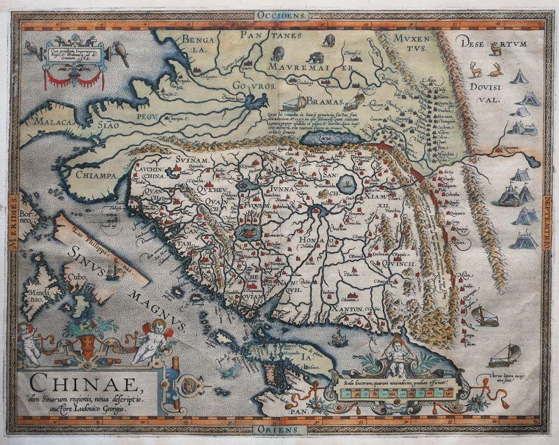 CHINAE, olim Sinarum regionis nova descriptio. auctore Ludovico Georgio