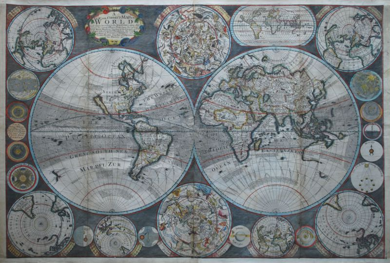 A New and Correct Map of the World Laid Down According the Newest Observations & Discoveries…
