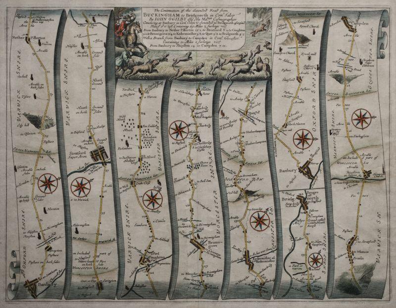 The Road from Buckingham to Bridgenorth – Plate # 13