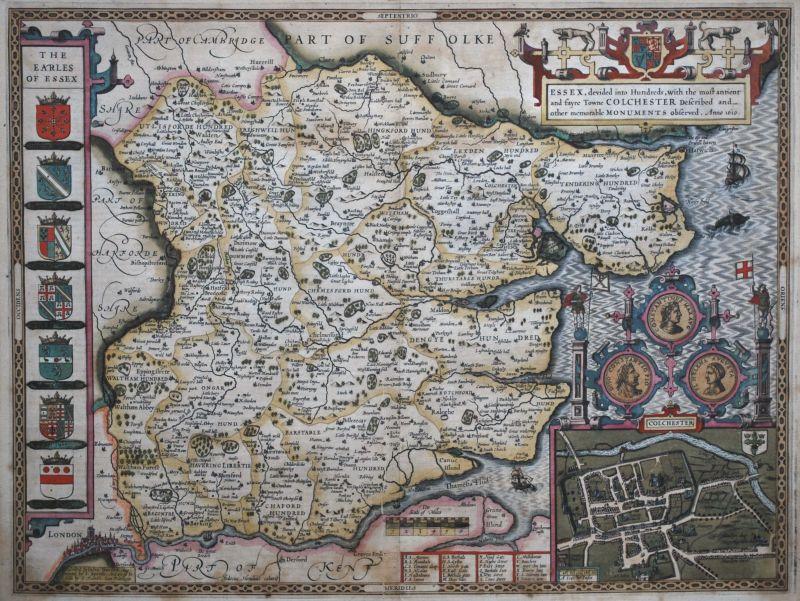 Essex, devided into Hundreds, …