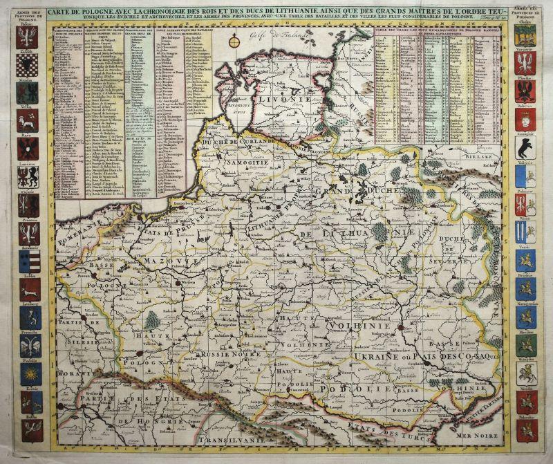 Carte De Pologne Avec La Chronologie Des Rois…