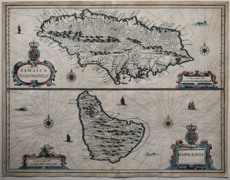 A Map of Jamaica & Barbados